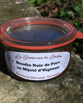 Boudin Noir de Porc au Mijoté d'Oignons